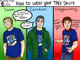 Waluigi's Fashion Tips: How to Wear your TRG Shirt by ThatOneNPC