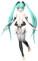 MMD Dreamy Theater Extend: Append Miku (open tie) by MisakiGalhardo