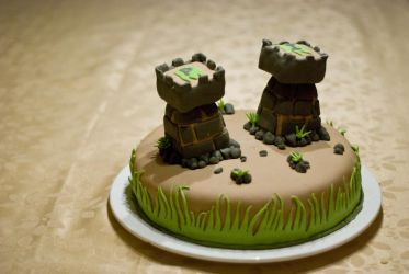 The Two Towers Cake by MagdalenaTR