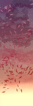 Custom Box Background Autumn Twilight by SiimplyMeep