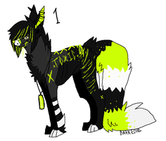 Toxic Scene Wolf Adoptable - Taken by CryingCrows