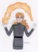 Zoisite playing with fire by stayka