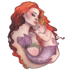 Mermother and Baby by JessicaApril