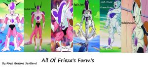 All Of Frieza's Forms by AlucardNoLife