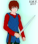 A Boy and his Sword by TheAmazingMrSMY