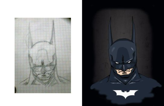Batman-antes y despues by dioxman