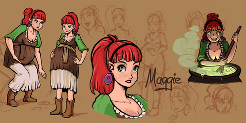 Character doodles(Maggie) by Chicken--Scratch