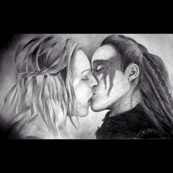 Clexa kiss 1 by McJaurilla