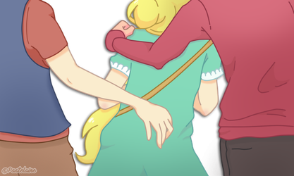 Dipper Pines, Star Butterfly And Marco Diaz by pastelaine-art