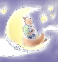 [Zootopia] On the Moon by THE-L0LLIP0P
