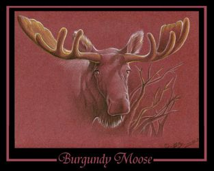 Burgundy Moose by tarkheki