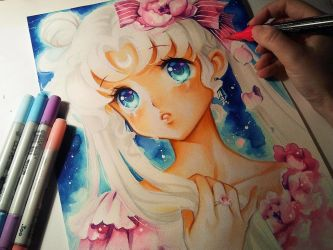 Sailor Moon: Princess Serenity by Naschi