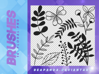 Brushes 020 // Floral by BEAPANDA