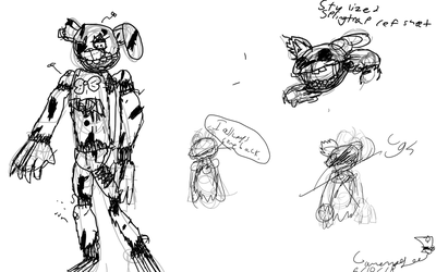 Stylized Springtrap by gamermagee