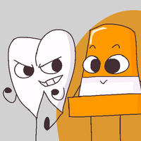 Coney and Toothy [REQUEST] by cubismm