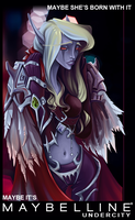 Sylvanas and maybelline by AyrinKey