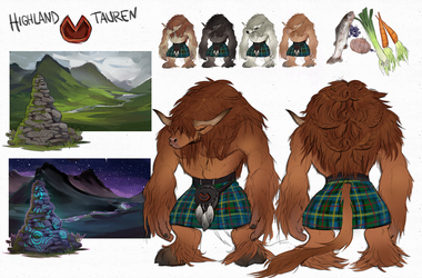 highland tauren by manabreakfast