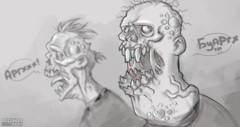 Zombie guys by Rodendron