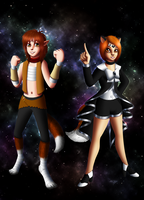Warrior Canis Major and Sailor Canis Minor by Chibi-Sugar