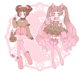 pokemagica adopt|shiny buneary - lopunny|auction by Hacuubii