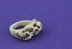 Tentacle Ring Bone Med 2 by forgotten-forest