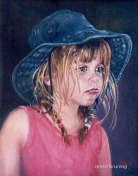 Samantha - Oil Painting by AstridBruning