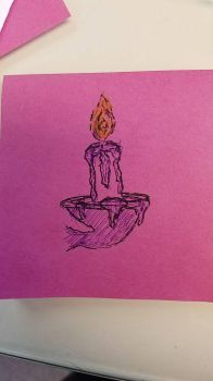 Doodle: Candle and Sconce by MisfitsTamara