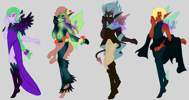 4 faerie adopts by LinLupin