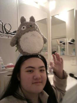 me and totoro on my head  by Samm56641