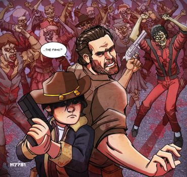 the walking dead vs thriller by m7781