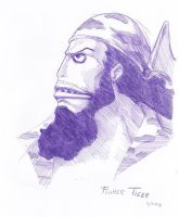 Fisher Tiger a tinta by Isis-90