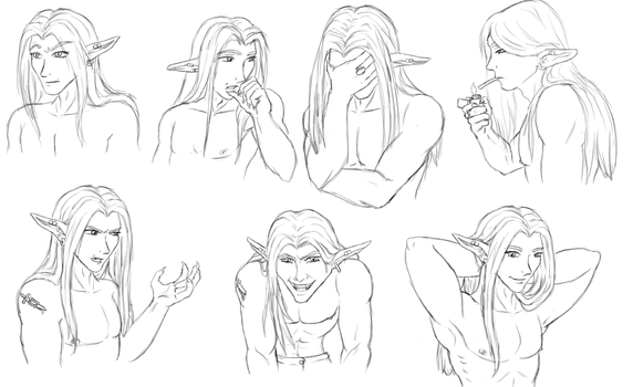 Laryk Expressions WIP by MistressVixen