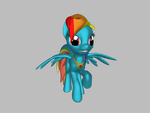 3D Rainbow Dash by MixietheDogFurry