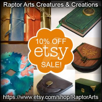 Birthday Sale on my Etsy shop! YAY! by RaptorArts
