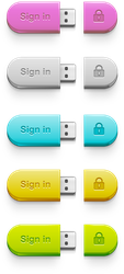 USB Sign in Button by tashamille