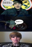 Jiminy Cricket Tells Justin Bieber To Be Quiet by William125