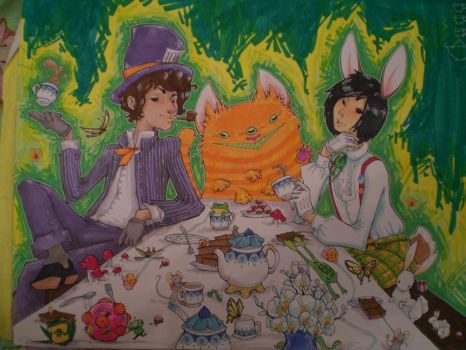 mad tea party by tomhoshino
