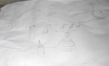 Unfinished Landscape drawing by TitaniumFerrous