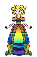 Peach - Dress of Rainbows by KatLime