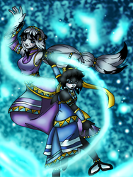 Water Bender Sea Sisters by EMMYtheK
