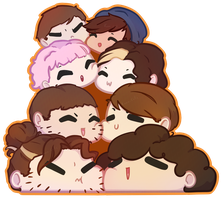 Grump pile by KawaiiCallie