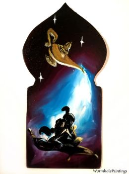 Aladdin silhouette by WormholePaintings