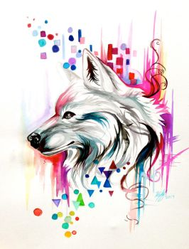 Watercolor Wolf Design (on ebay) by Lucky978