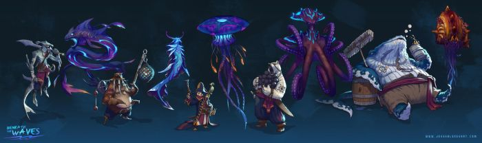 Beneath the waves - Character/Creature challenge by ChuchuaN