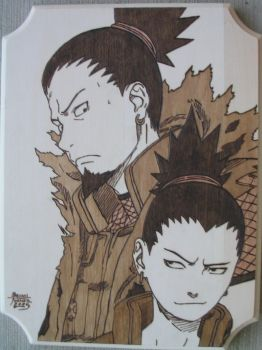 Shikamaru and Father by Obidesuka