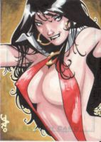 vampirella sketch card by lazeedog
