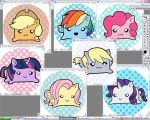 Pony Tofu Stickers: Colored by Tofutastic