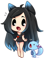Chibi Aki And Wooper [FanArt] by senpaimisskitty