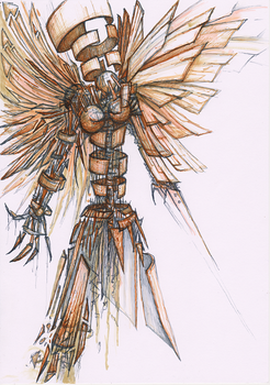 Angel of junk dust and impermanence by Rethandris