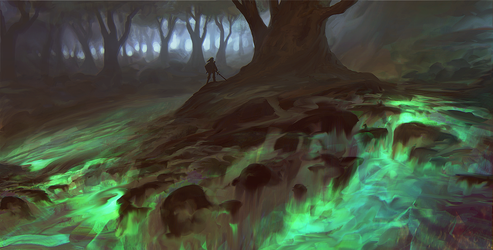 green lava forest by llRobinll